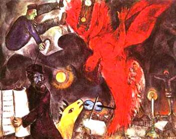 chagall caduta angelo