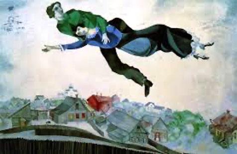 chagall sulla citta